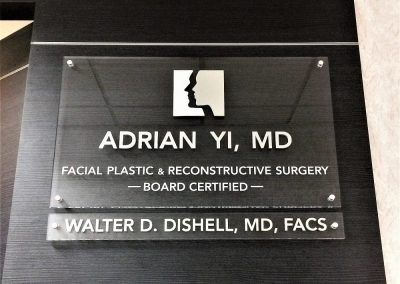 Office Building Hallway Sign for Doctor in Encino, CA