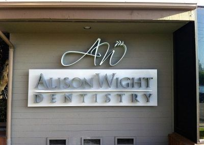 Custom Sign for a Business for Alison Wight Dentistry in Lake Forest, CA