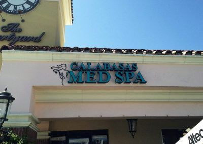 Storefront Logo Sign for Spa in Calabasas, CA