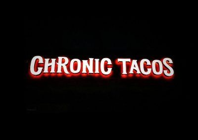 Electrical Sign for Chronic Tacos in Los Angeles, CA