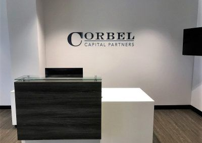 Commercial Sign for Corbel Capital Partners in Los Angeles, CA