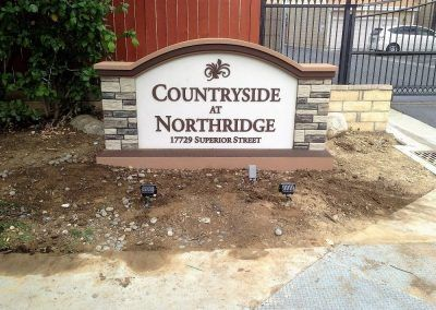 Entrance Sign for HOA in Northridge, CA