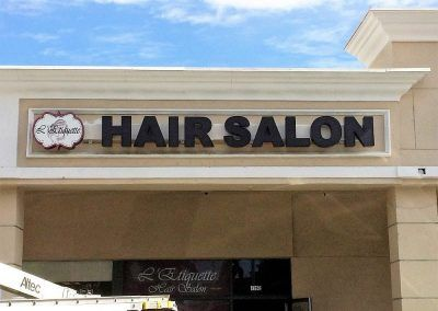 Letters for Business Signs for L'Etiquette Hair Salon in Tarzana, CA