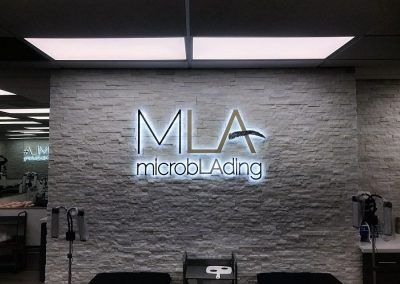 Lobby Welcome Sign for Microblading LA in Woodland Hills, CA