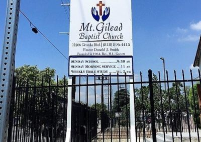 Directional Signs for Mt. Gilead Baptist Church in Pacoima,, CA