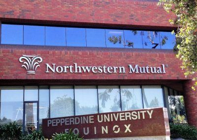 Wall Signs for Business for Northwestern Mutual in Los Angeles, CA