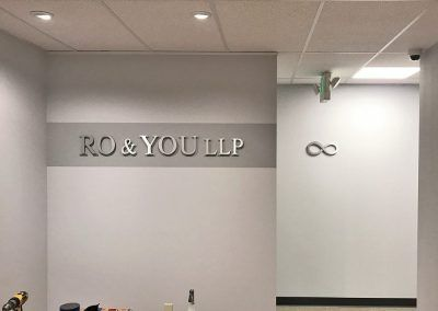 Law Office Wall Sign for Ro & You LLP in Sherman Oaks, CA
