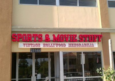 Custom Retail Signs for Sports & Movie Stuff in Simi Valley, CA