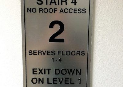 Stair Signs for Apartment Complex in Studio City, CA