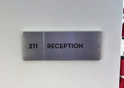 Business Office Door Sign for Reception Area in Office Building