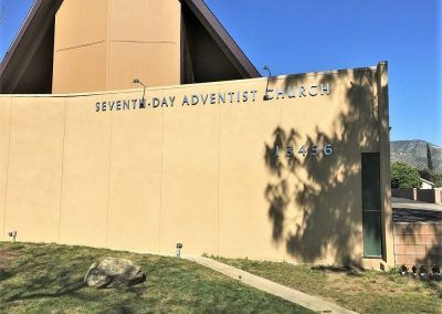 Church Sign Letters for Seventh Day Adventist Church in Sylmar, CA