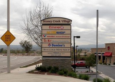 Multi-Tenant Monument Sign for Shopping Center in Canoga Park, CA