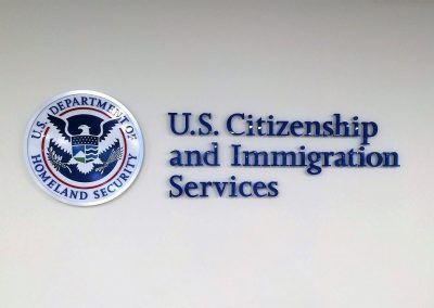 Business Lobby Sign for Department of Homeland Security in Los Angeles, CA