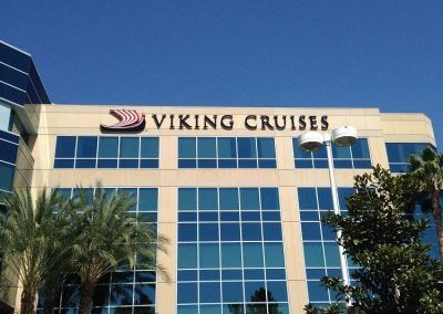 High Rise Signage for Viking Cruises in Woodland Hills, CA