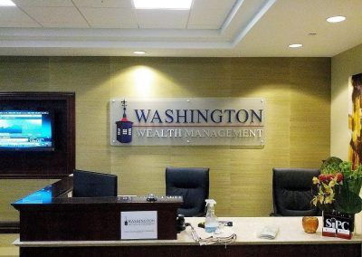 Professional Office Sign for Washington Wealth Management in Woodland Hills, CA