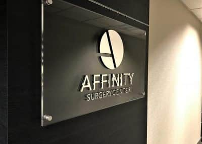 Medical Office Door Sign for Affinity Surgery Center in Encino, CA