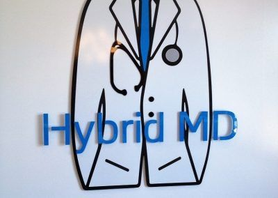 Medical Office Waiting Room Signs for Hybrid MD in San Clemente, CA