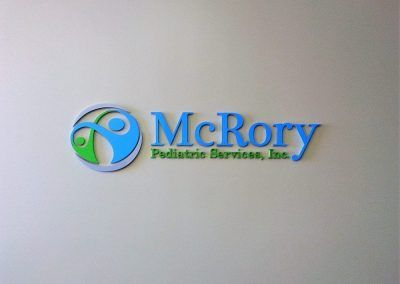 Medical Office Logo Sign for McRory Pediatric Services in Encino, CA