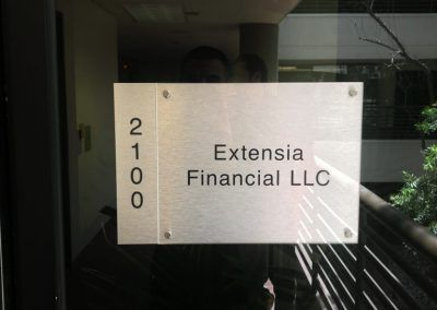 Suite ID Sign for Loan Agency in Northridge, CA