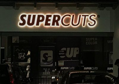 Lighted Signs for Retail Stores for Supercuts in Woodland Hills, CA