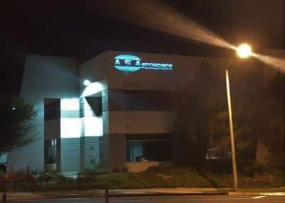 Business Sign Letters for AS Aerospace in Santa Clarita, CA