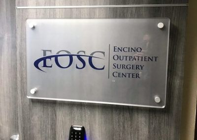 Hallway Sign for Encino Outpatient Surgery Center in Encino, CA