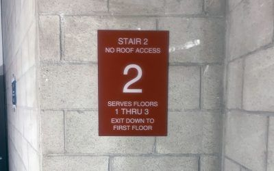Code Signage for Vaughn M.I.T. in Pacoima, CA