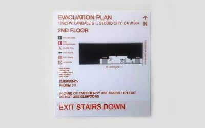 ADA Signs and Address Number for Coldwater Villas in Studio City, CA