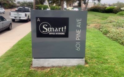 New Custom Made Monument Signs for Office Building in Goleta, CA