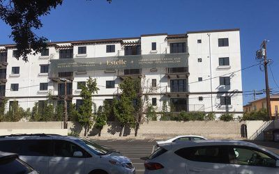 Custom Banners for The Estelle Luxury Apartments in Los Angeles, California