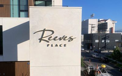 Brass Channel Letters for Reeves Place in Los Angeles, CA