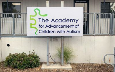 Exterior and Interior Signs for The Academy for Advancement of Children with Autism in West Hills, CA