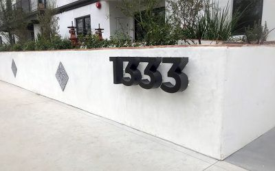 Reverse-lit Channel Letter Sign for Luxury Apartments in Los Angeles, CA