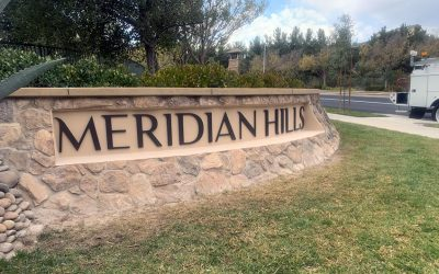 Monument Sign Letters for Meridian Hills HOA in Moorpark, CA